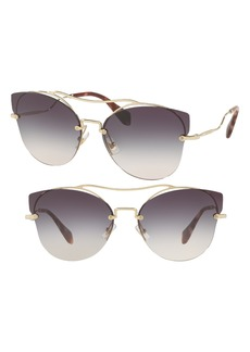 Miu Miu 62mm Aviator Sunglasses