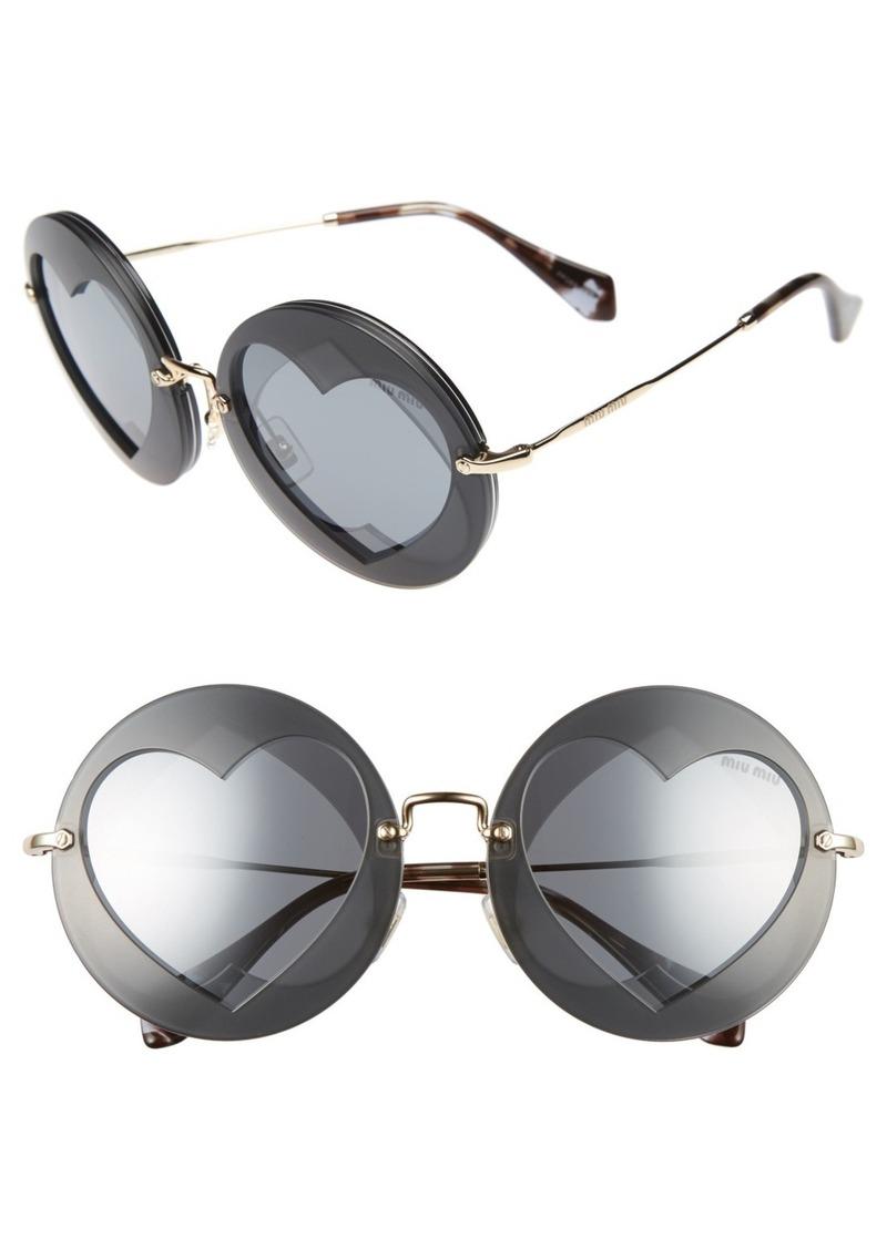 miu miu miu miu 62mm layered heart round sunglasses sunglasses shop it to me. Black Bedroom Furniture Sets. Home Design Ideas