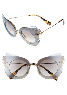 Miu Miu 63mm Butterfly Sunglasses