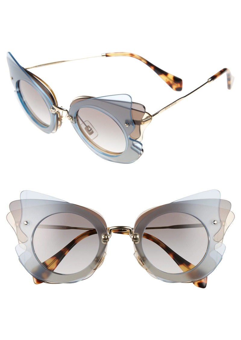 ebd8b8c3323 Miu Miu Miu Miu 63mm Butterfly Sunglasses