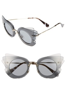 Miu Miu 63mm Layered Butterfly Sunglasses