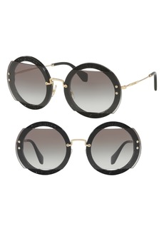 Miu Miu 63mm Retro Oversize Sunglasses