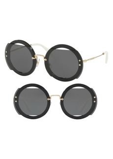 Miu Miu 63mm Round Sunglasses