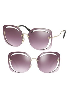 Miu Miu 64mm Oversize Sunglasses