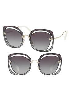 Miu Miu 64mm Oversize Sunglasses