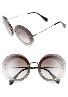Miu Miu 64mm Round Sunglasses
