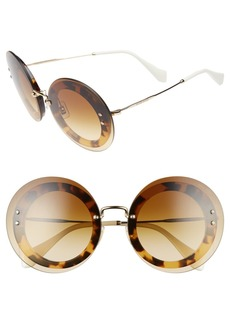 Miu Miu 64mm Round Sunglasses