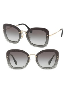 Miu Miu 65mm Gradient Oversize Sunglasses