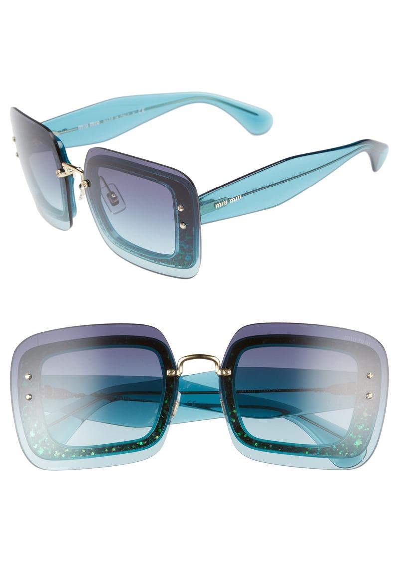 Miu Miu 67mm Square Sunglasses
