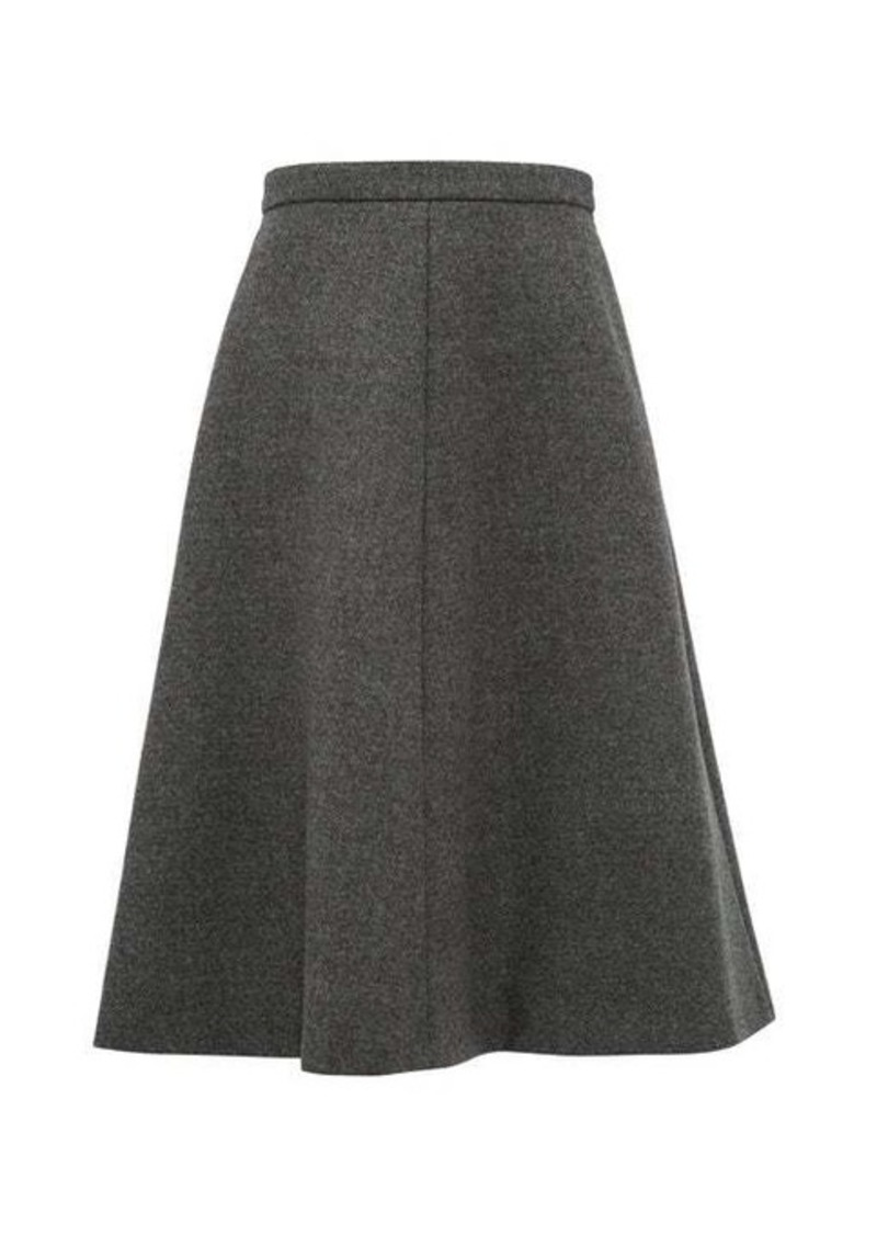 Miu Miu A-line wool-tweed midi skirt