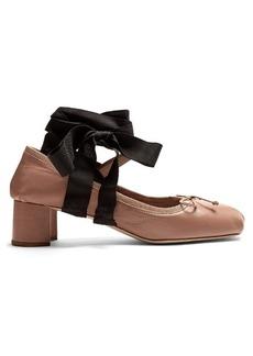 Miu Miu Ankle-tie leather pumps