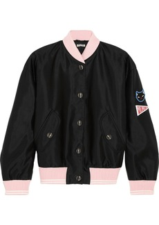 Miu Miu Appliquéd satin bomber jacket