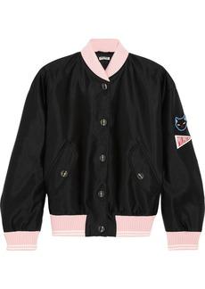 Miu Miu Appliquéd satin bomber jacket