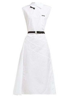 Miu Miu Belted cotton midi dress