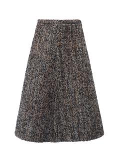 Miu Miu Bouclé-Tweed Skirt