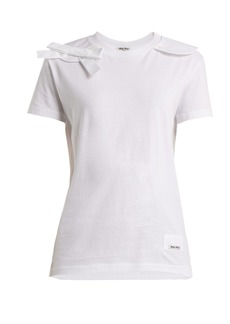Miu Miu Bow-appliqué cotton T-shirt