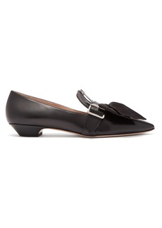Miu Miu Bow buckled leather flats