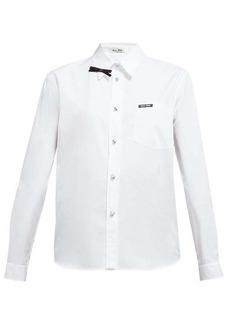 Miu Miu Bow-embellished cotton-poplin shirt