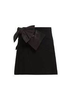 7f03445f5d64 Miu Miu Bow-embellished crepe mini skirt