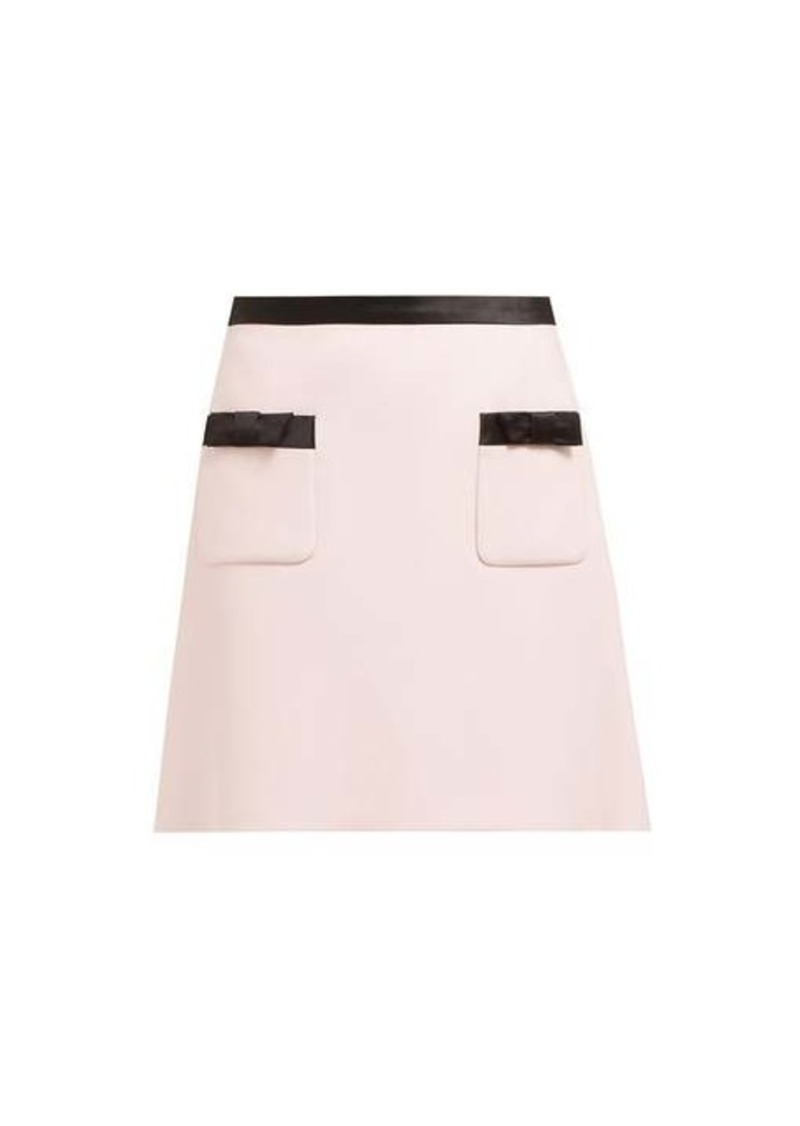Miu Miu Bow-embellished mini skirt