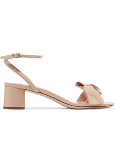 Miu Miu Bow-embellished patent-leather sandals
