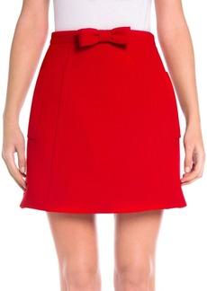 Miu Miu Wool Bowed Flare Skirt