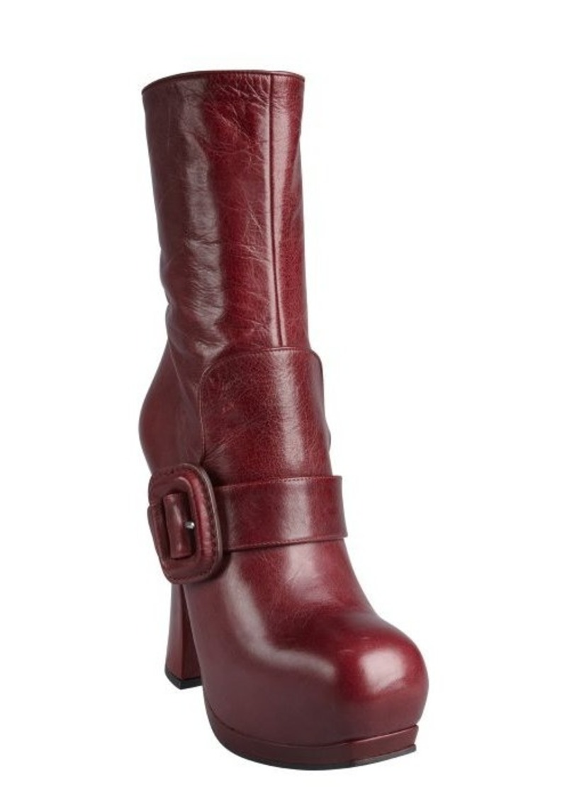 miu miu miu miu brick leather flap buckle strapped platform boots shoes shop it to me. Black Bedroom Furniture Sets. Home Design Ideas