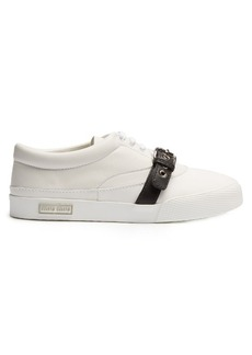 Miu Miu Buckle-strap low-top leather trainers