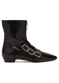 Miu Miu Buckled leather ankle boots