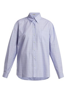 Miu Miu Button-down collar checked cotton shirt