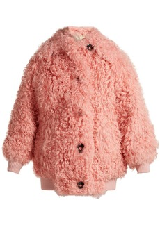 Miu Miu Button-front shearling bomber jacket