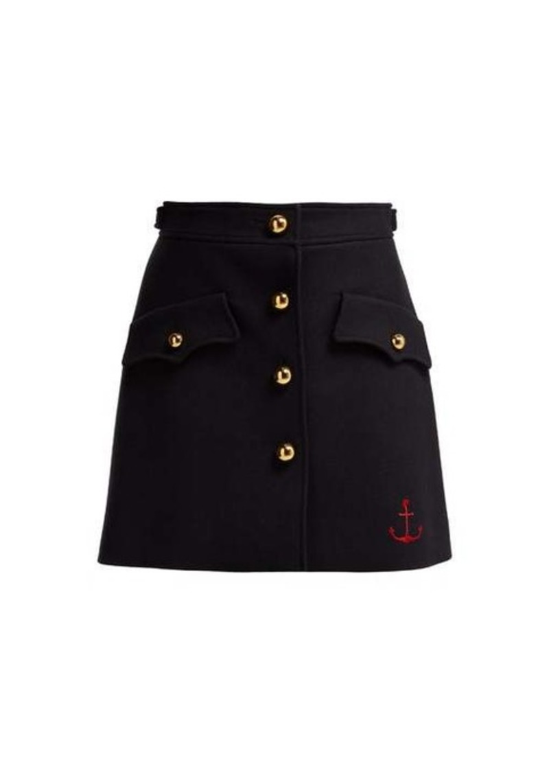 Miu Miu Buttoned virgin-wool skirt