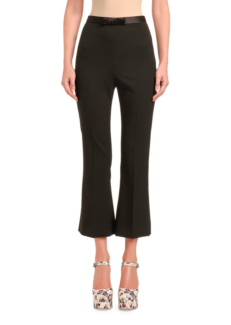 Miu Miu Cady Flare Pants with Bow