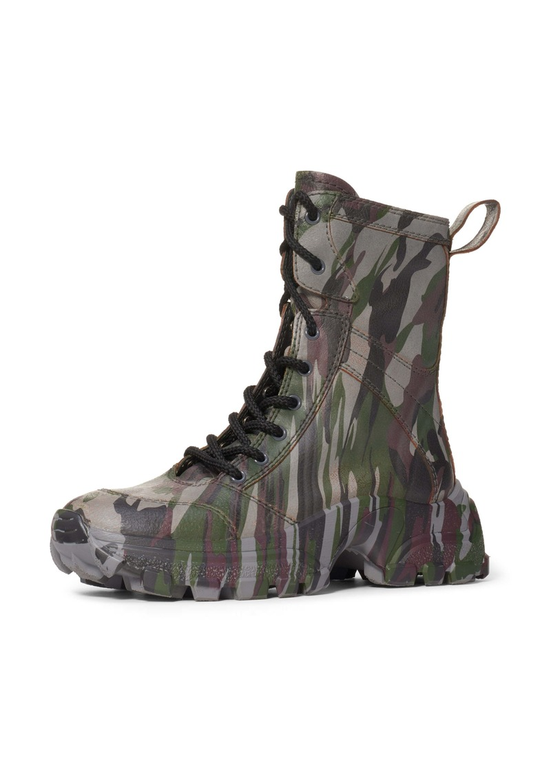 Miu Miu Camo Lace-Up Boot (Women)