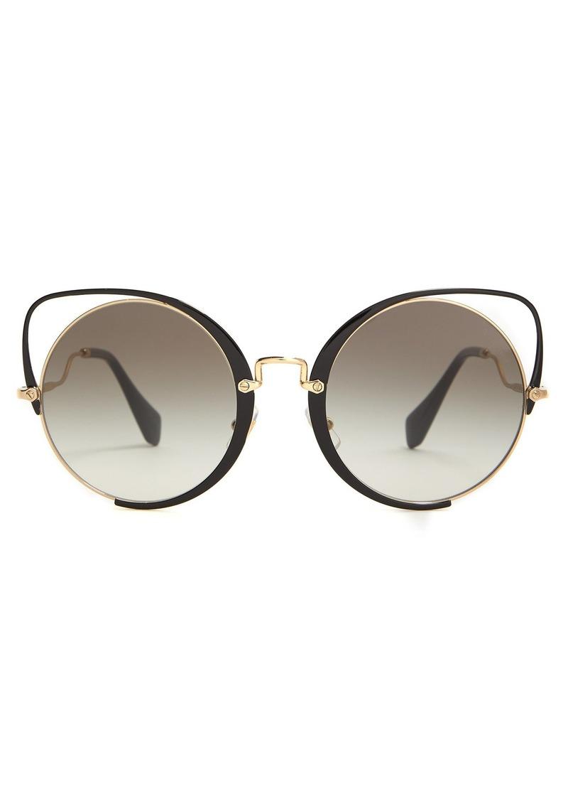 a53ece4ed83 Miu Miu Miu Miu Cat-eye metal sunglasses