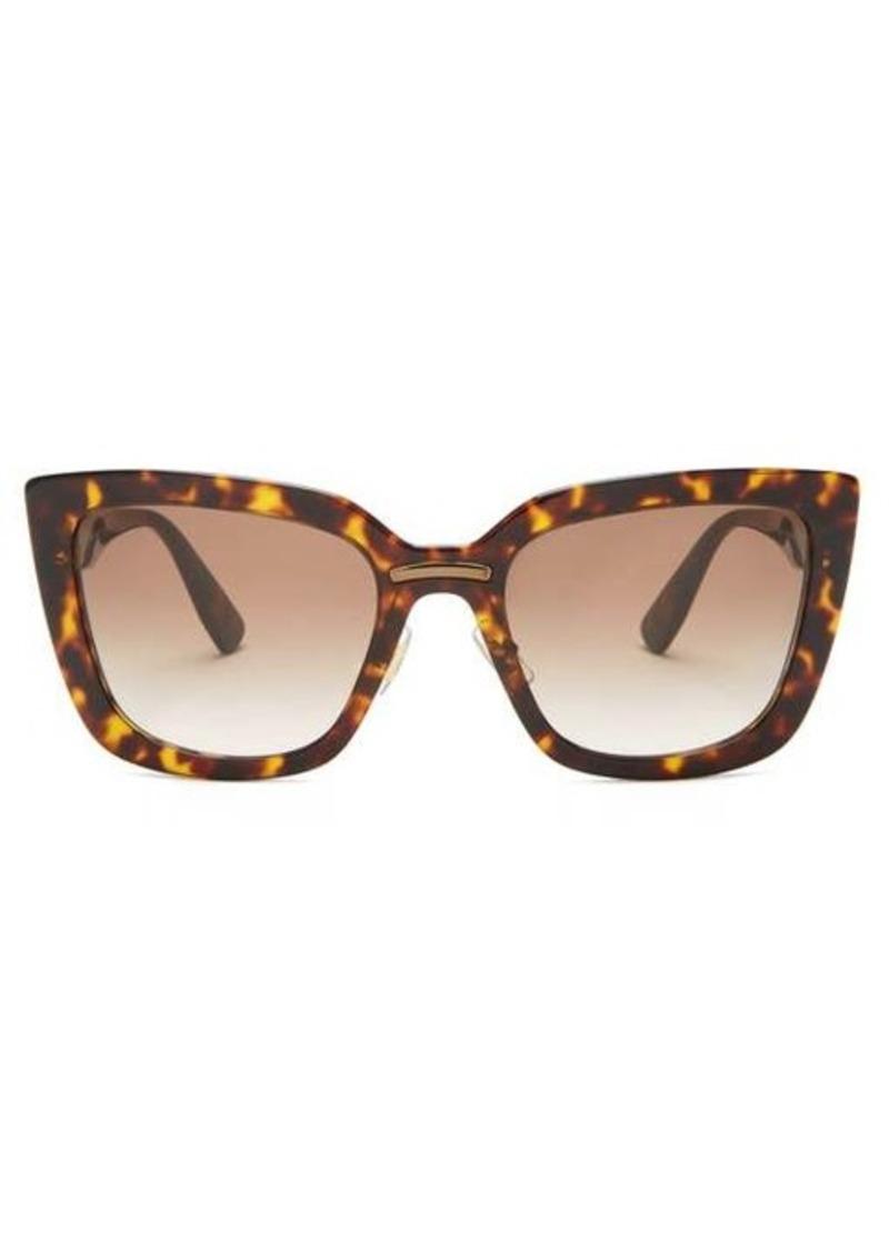 Miu Miu Cat-eye tortoiseshell-acetate sunglasses