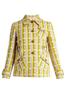 Miu Miu Circle striped-print wool-blend jacket