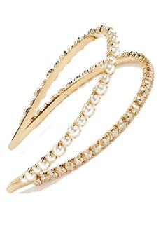 Miu Miu 'Classic' Bead & Crystal Double Headband