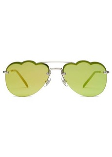 Miu Miu Cloud-shaped rimless aviator metal sunglasses