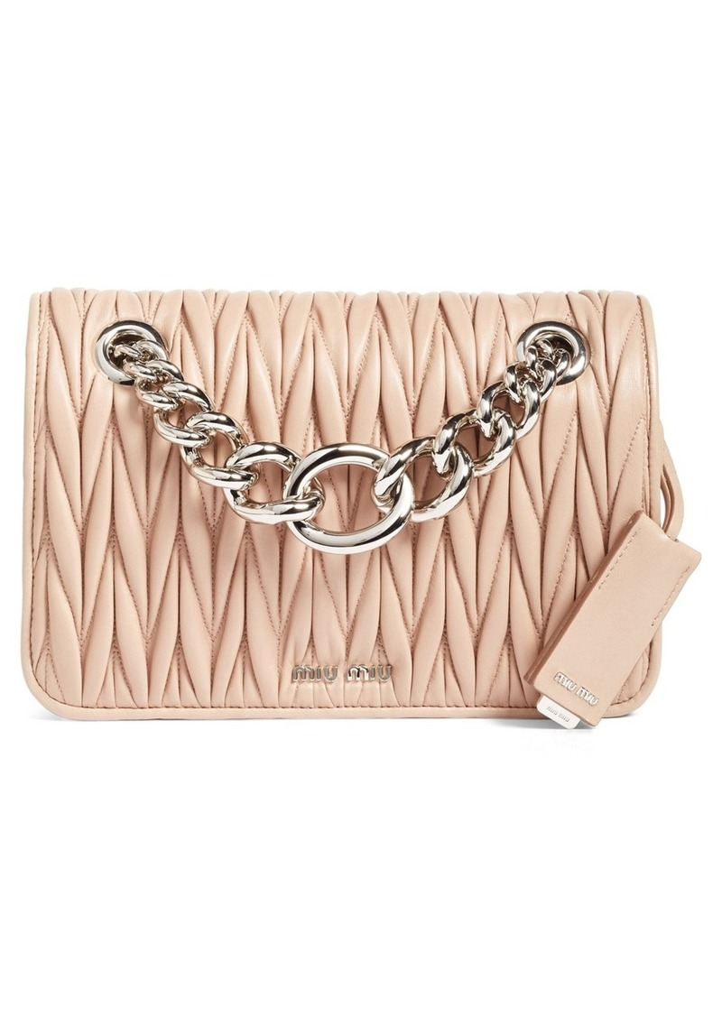 25e9bf67ddc9 Miu Miu Miu Miu Club Matelassé Leather Shoulder Bag