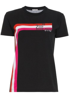Miu Miu club print short sleeve t shirt - Black