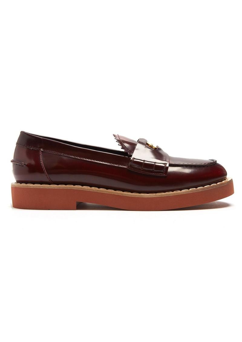 88011949d3a4 Miu Miu Miu Miu Coin-embellished leather penny loafers