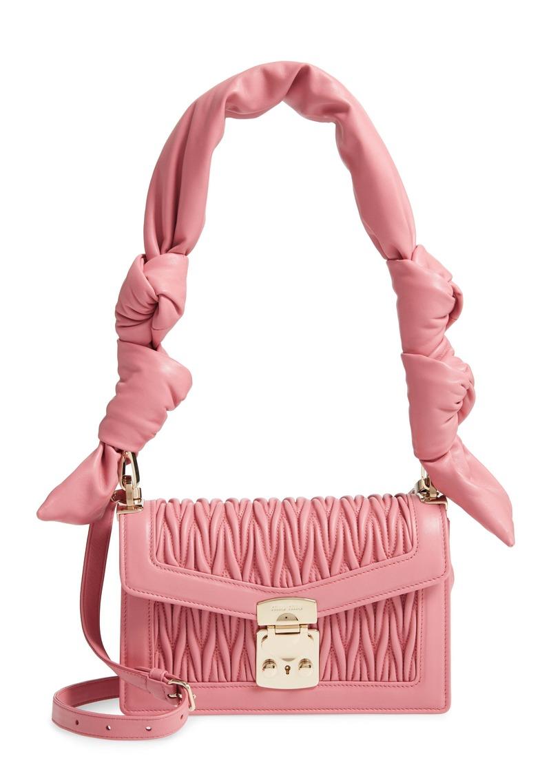 Miu Miu Confidential Matelassé Quilted Lambskin Crossbody Bag