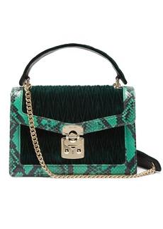 Miu Miu Confidential matelassé-quilted velvet shoulder bag