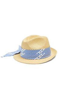 Miu Miu Cotton scarf-embellished straw hat