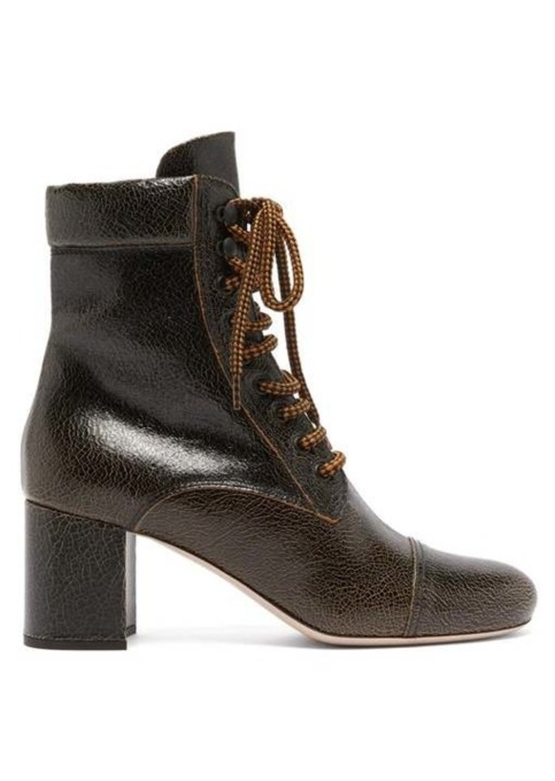 Miu Miu Crackle-effect leather boots