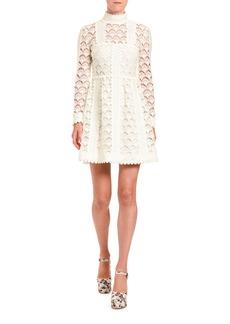 Miu Miu Crocheted Mock-Neck Dress