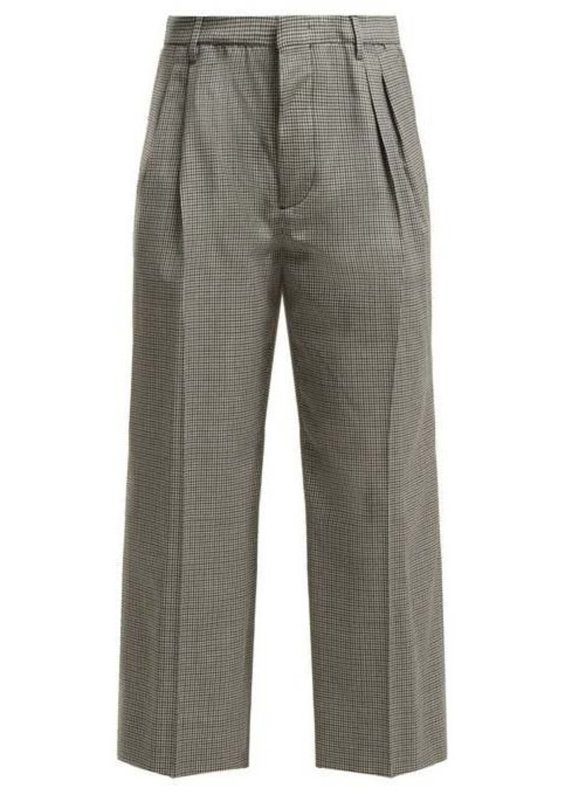 Miu Miu Cropped checked wool trousers
