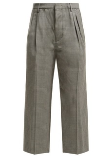Miu Miu Cropped checked wool trousers