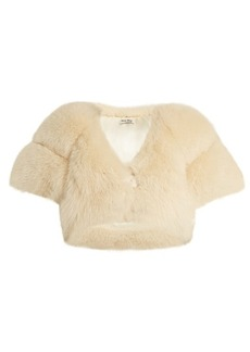 Miu Miu Cropped fox-fur coat